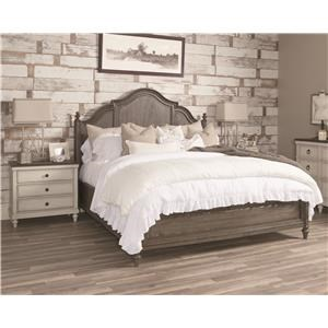 Queen Panel Bed with Molded Headboard