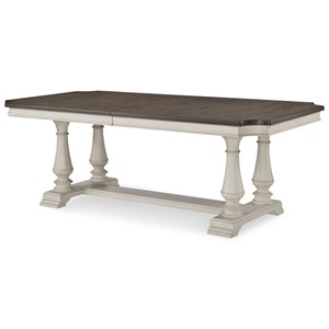 Trestle Table with 2 Leaves