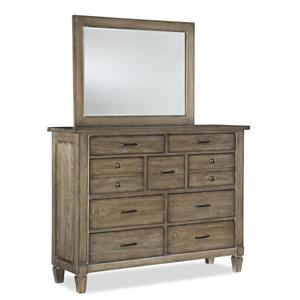 Legacy Classic Brownstone Village Bureau and Mirror Set