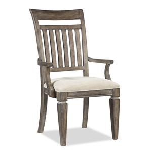 Legacy Classic Brownstone Village Slat Back Arm Chair