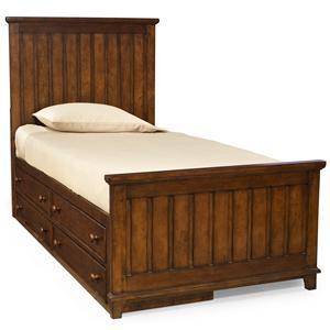 Legacy Classic Kids Dawson's Ridge Twin Panel Bed with Underbed Storage Unit