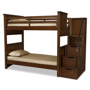Legacy Classic Kids Dawson's Ridge Twin-over-Twin Bunk w/ Storage Stair