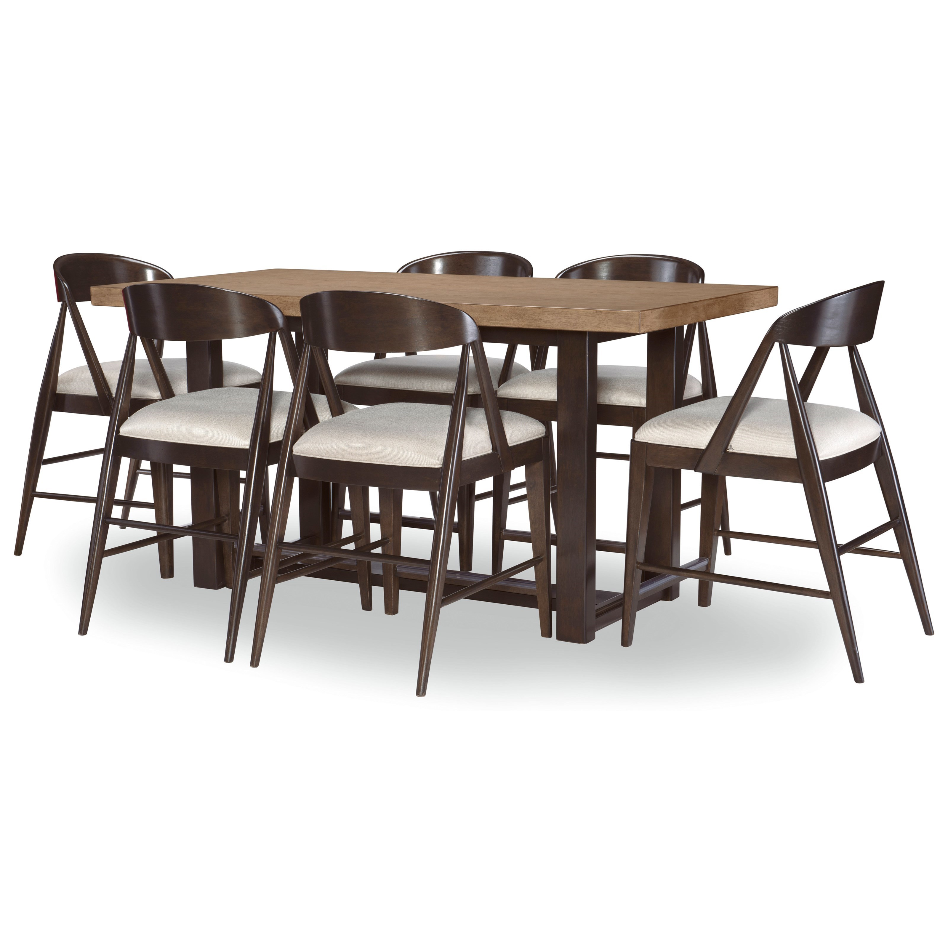 Duo 7-Piece Counter Height Dining Set by Legacy Classic at Stoney Creek Furniture