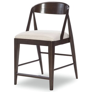 Transitional Counter Height Chair with Upholstered Seat