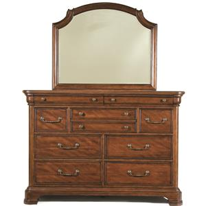 Bureau with Scroll Top Mirror