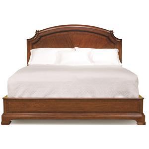 Queen-Size Scroll Top Platform Bed