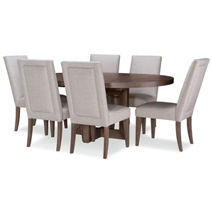 7-Piece Oval Table and Chair Set