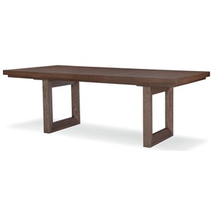 Rectangular Double Pedestal Table with 24in. Leaf