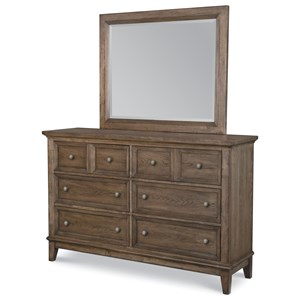 6-Drawer Dresser with Removable Jewelry Tray and Mirror