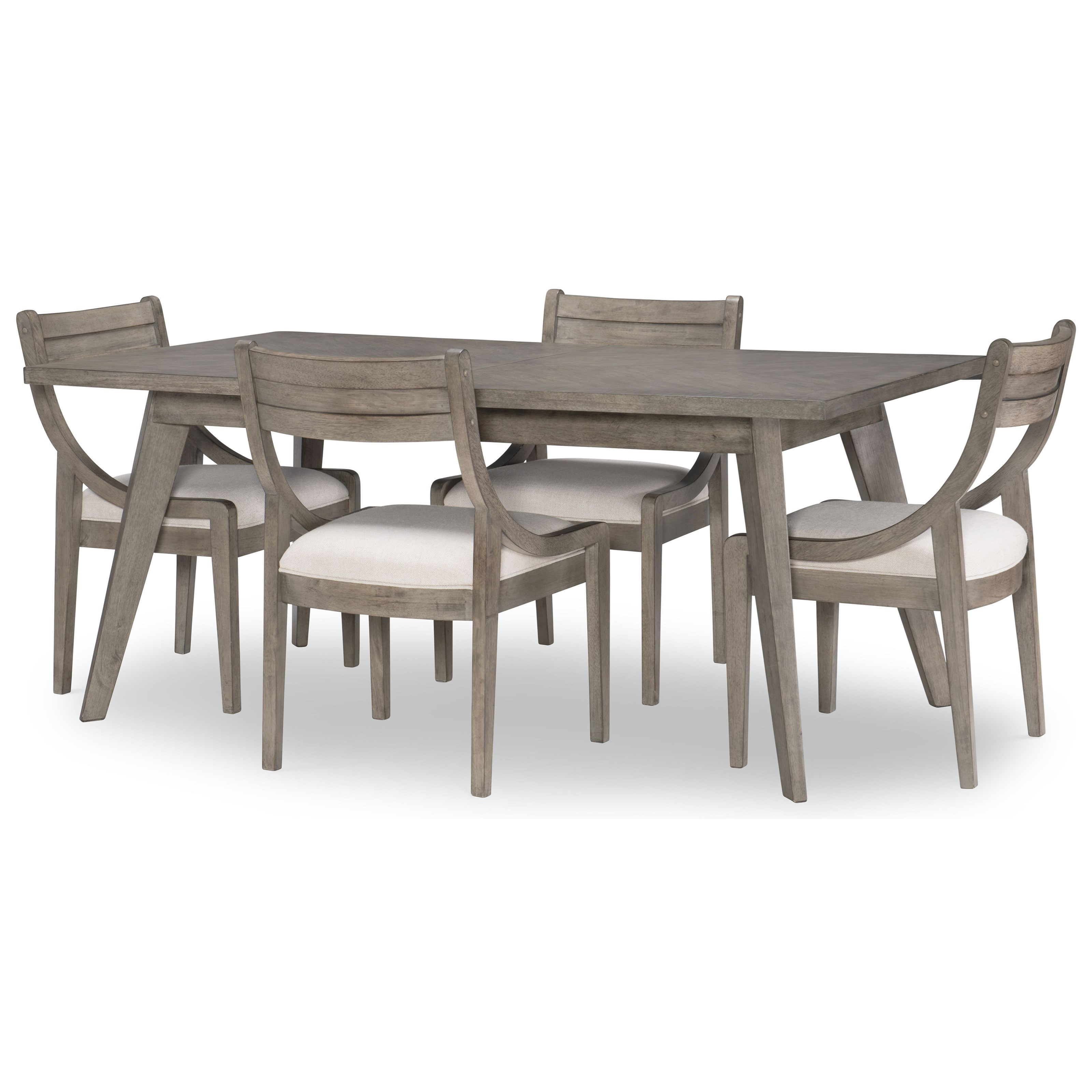 Greystone 5-Piece Rectangular Table and Chair Set by Legacy Classic at Darvin Furniture