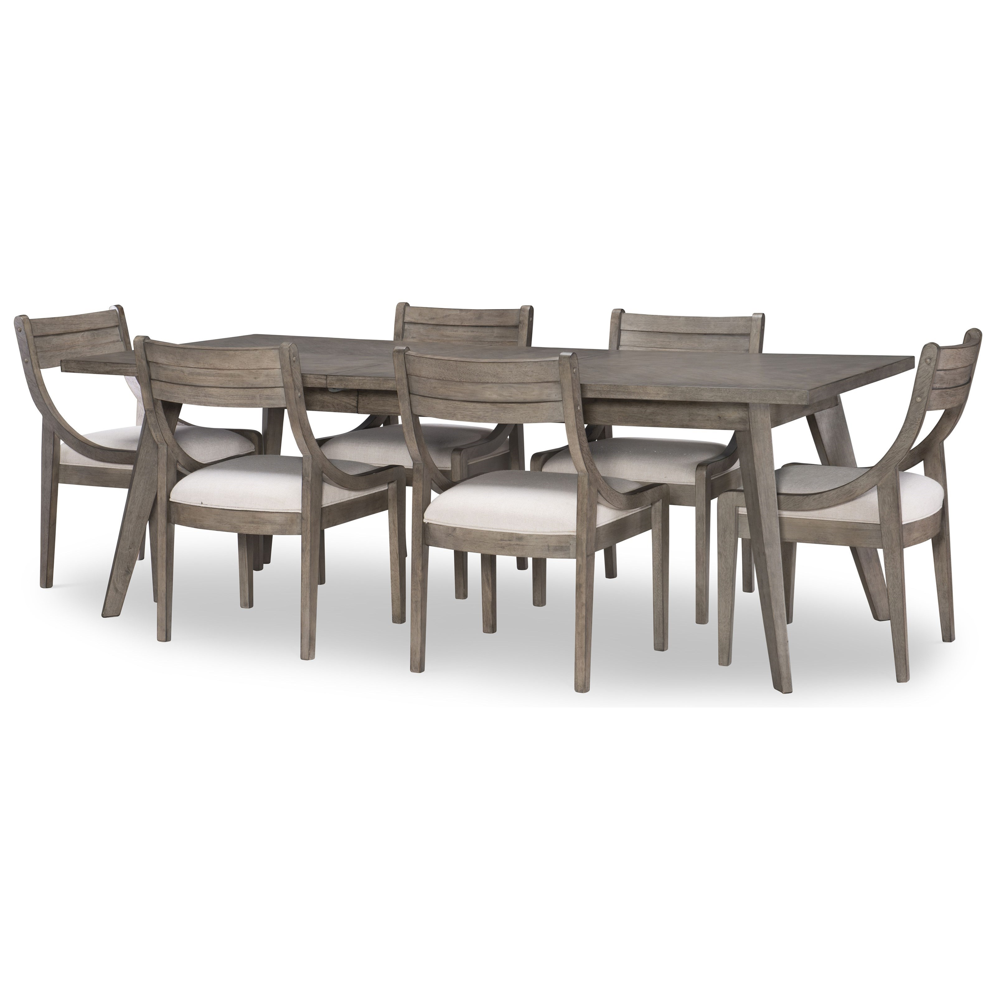 Greystone 7-Piece Rectangular Table and Chair Set by Legacy Classic at Johnny Janosik