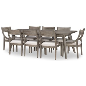 9-Piece Rectangular Table and Chair Set