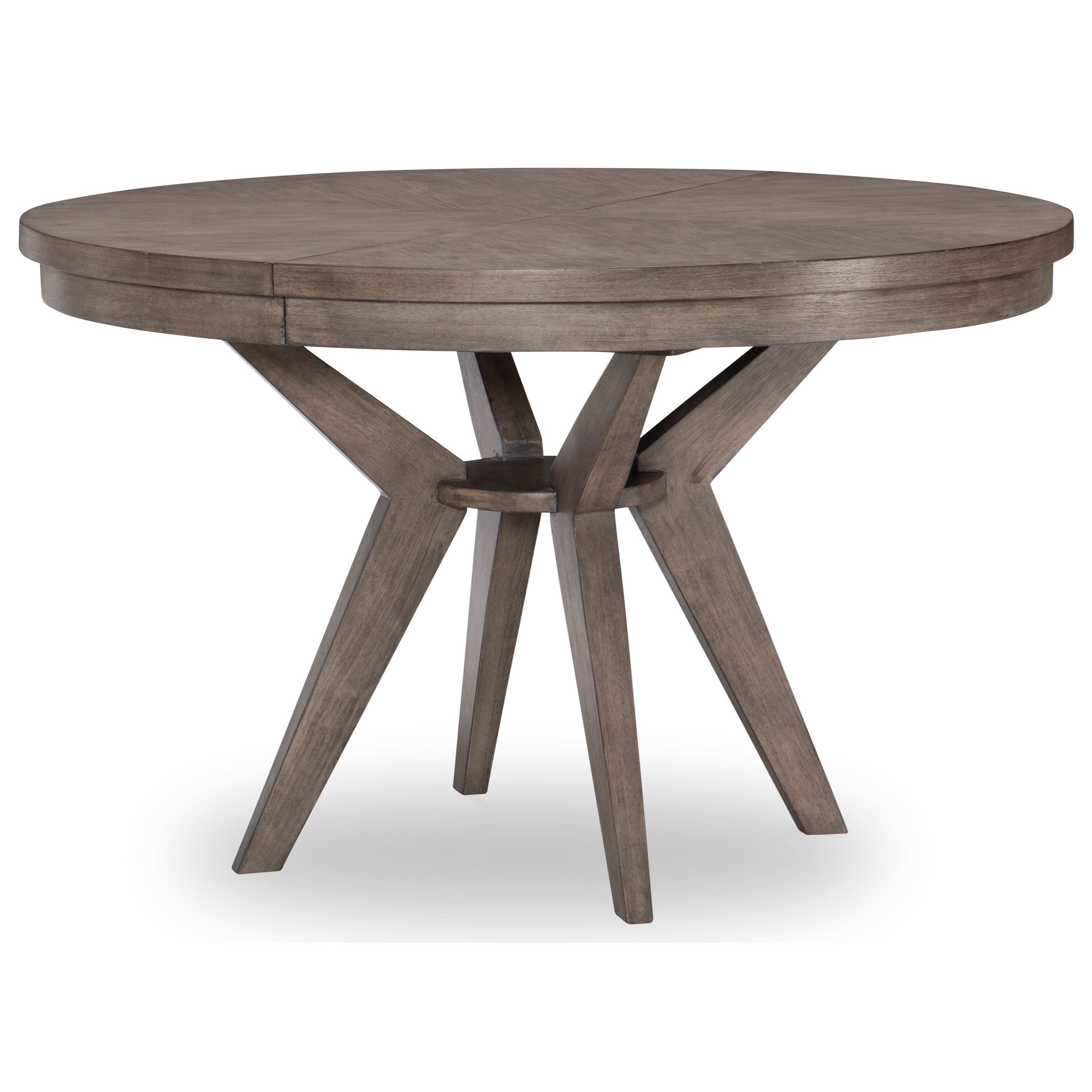 Greystone Round to Oval Pedestal Table by Legacy Classic at Johnny Janosik