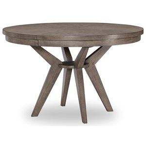 Contemporary Round to Oval Pedestal Table