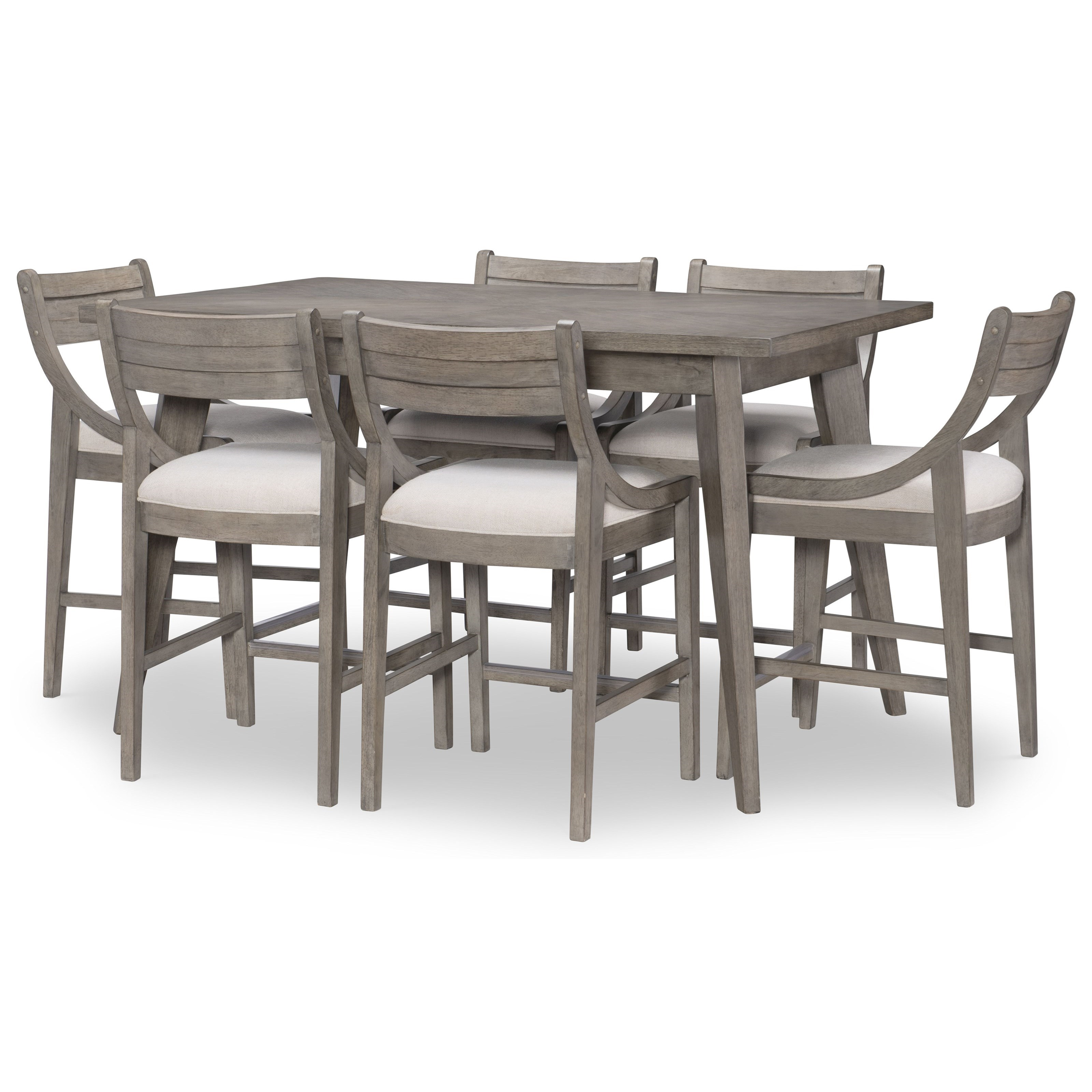 Greystone 7-Piece Pub Table and Chair Set by Legacy Classic at Johnny Janosik