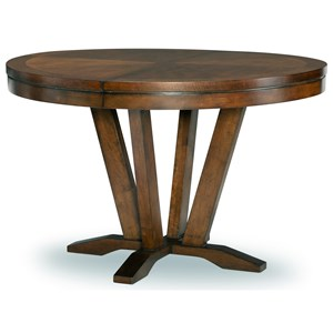 Transitional Round Pedestal Table with 1 18