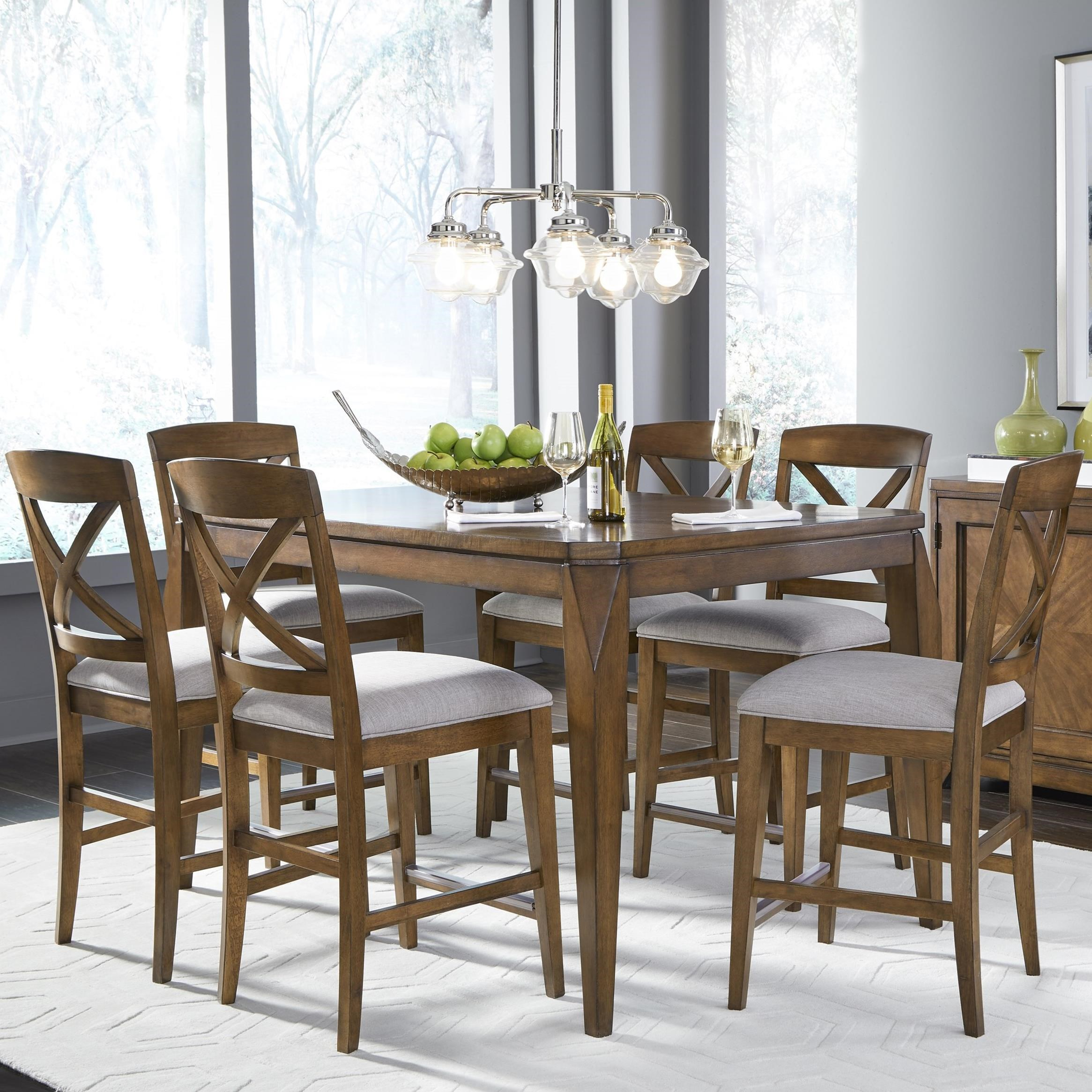 Highland 7-Piece Pub Table and Stool Set by Legacy Classic at Belfort Furniture