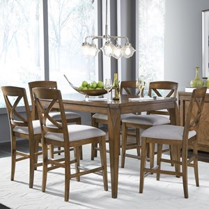 7-Piece Pub Table and Stool Set