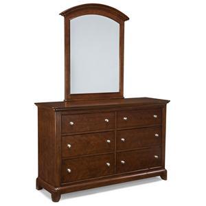 6-Drawer Dresser and Arched Dresser Mirror Set
