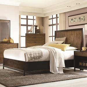 Complete Curved Panel King Bed with Storage