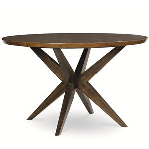 Round Table with Pedestal Bottom in Hazelnut Finish