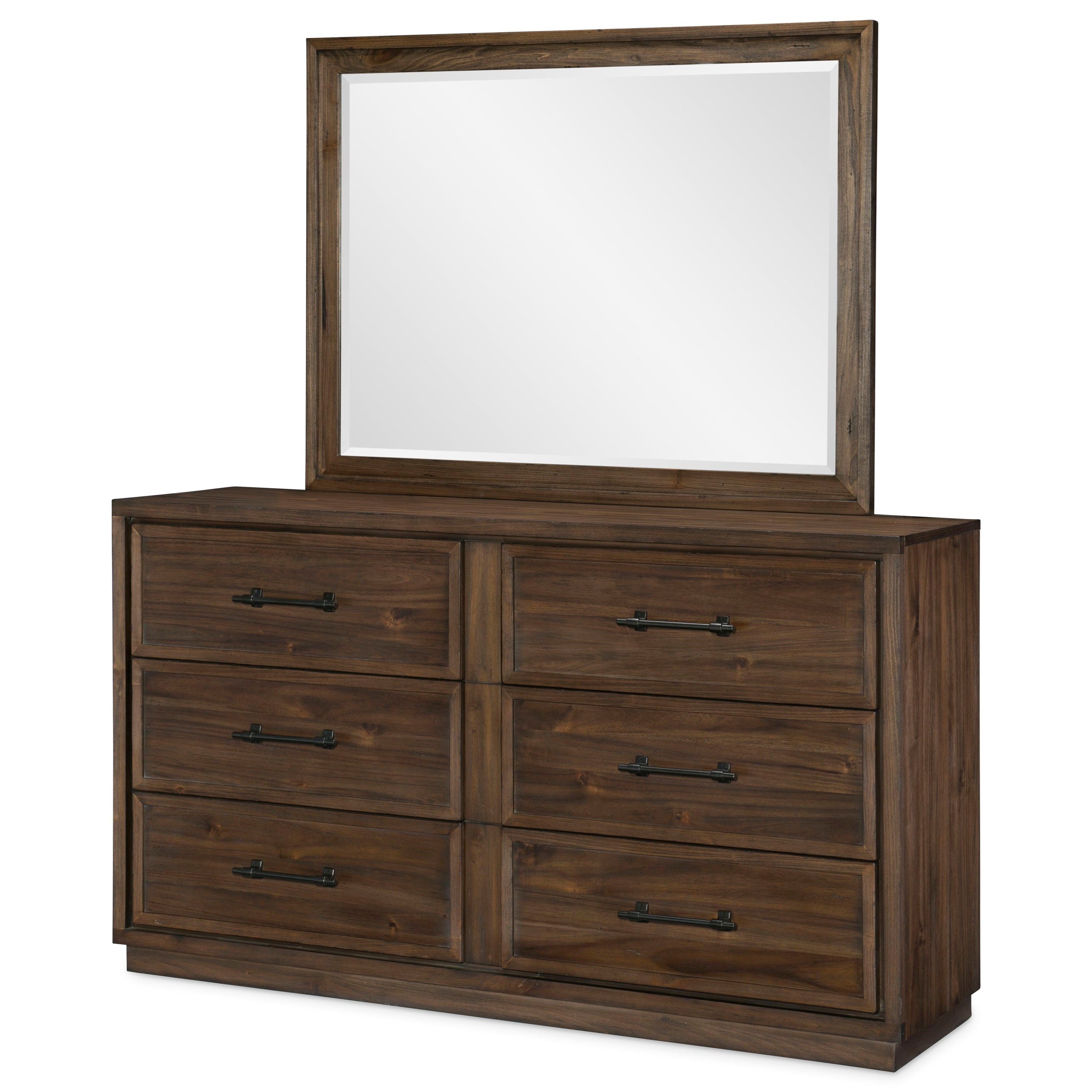 Lumberton Dresser and Mirror Set by Legacy Classic at Darvin Furniture