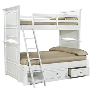 Legacy Classic Kids Madison Classic Twin-over-Full Size Storage Bunk Bed