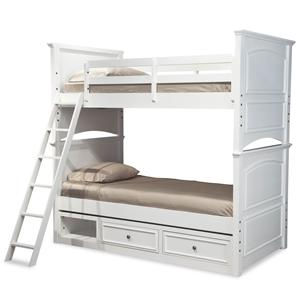 Legacy Classic Kids Madison Classic Twin-over-Twin Size Storage Bunk Bed