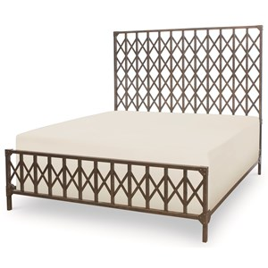 King Metal Bed with Industrial Design