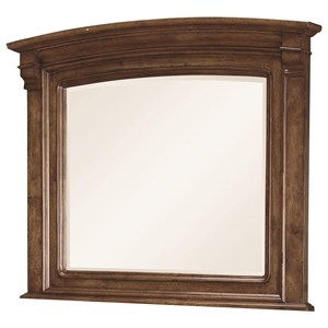 Transitional Mirror with Arched Frame