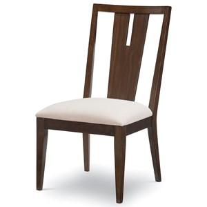 Contemporary Splat Back Side Chair