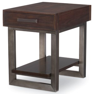 Contemporary 1-Drawer End Table