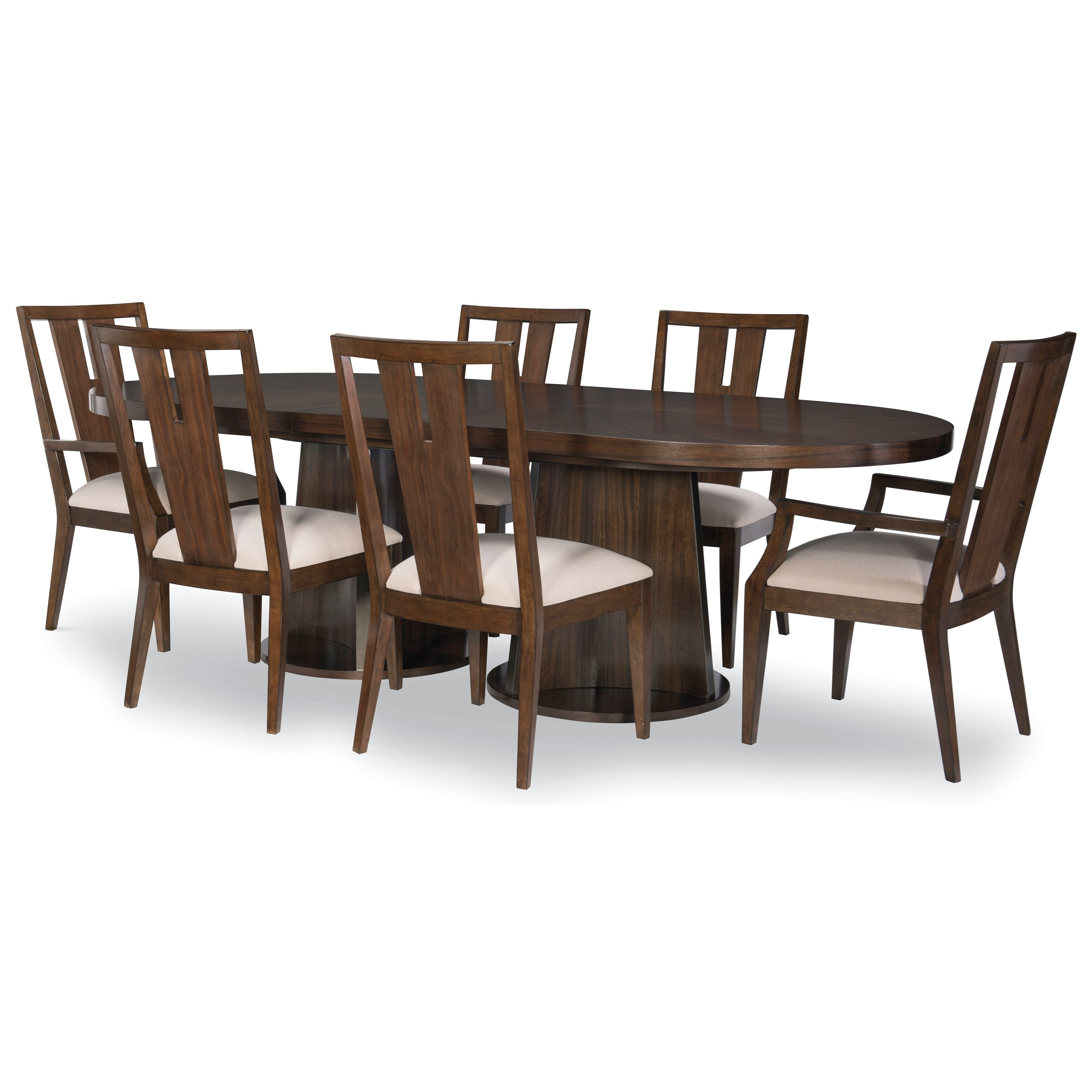 Paldao 7-Piece Table and Chair Set by Legacy Classic at EFO Furniture Outlet