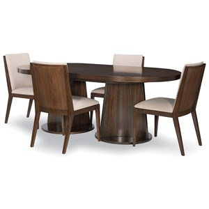 5-Piece Oval Table and Chair Set