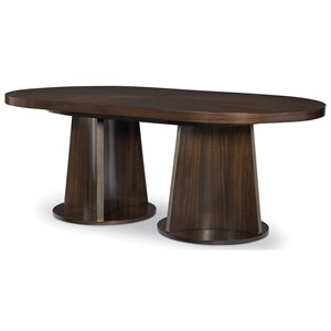 Contemporary Oval Double Pedestal Table