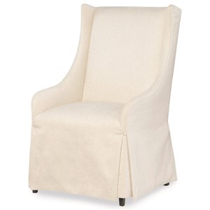 Upholstered Host Chair with Skirt