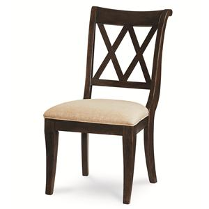 X Back Side Chair with Tapered Legs
