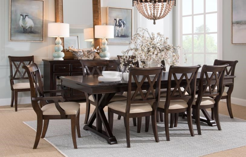 Thatcher Trestle Table and Side Chairs by Legacy Classic at Johnny Janosik