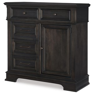 Transitional Door Chest with Adjustable Shelves