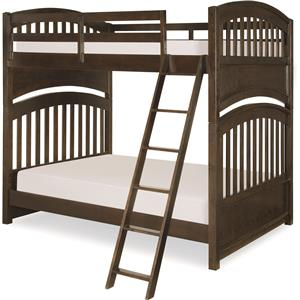 Full over Full Bunk Bed with Arched Ends