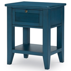 Open Nightstand with USB Port and Motion-Activated Light