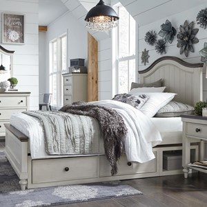 Relaxed Vintage Full Panel Bed with Underbed Storage