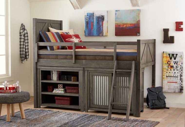 Bungalow Bungalow Loft Bed Set with Storage at Morris Home