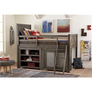 Bungalow Loft Bed Set with Storage