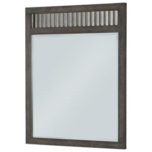 Rustic Casual Vertical Mirror with Beveled Glass