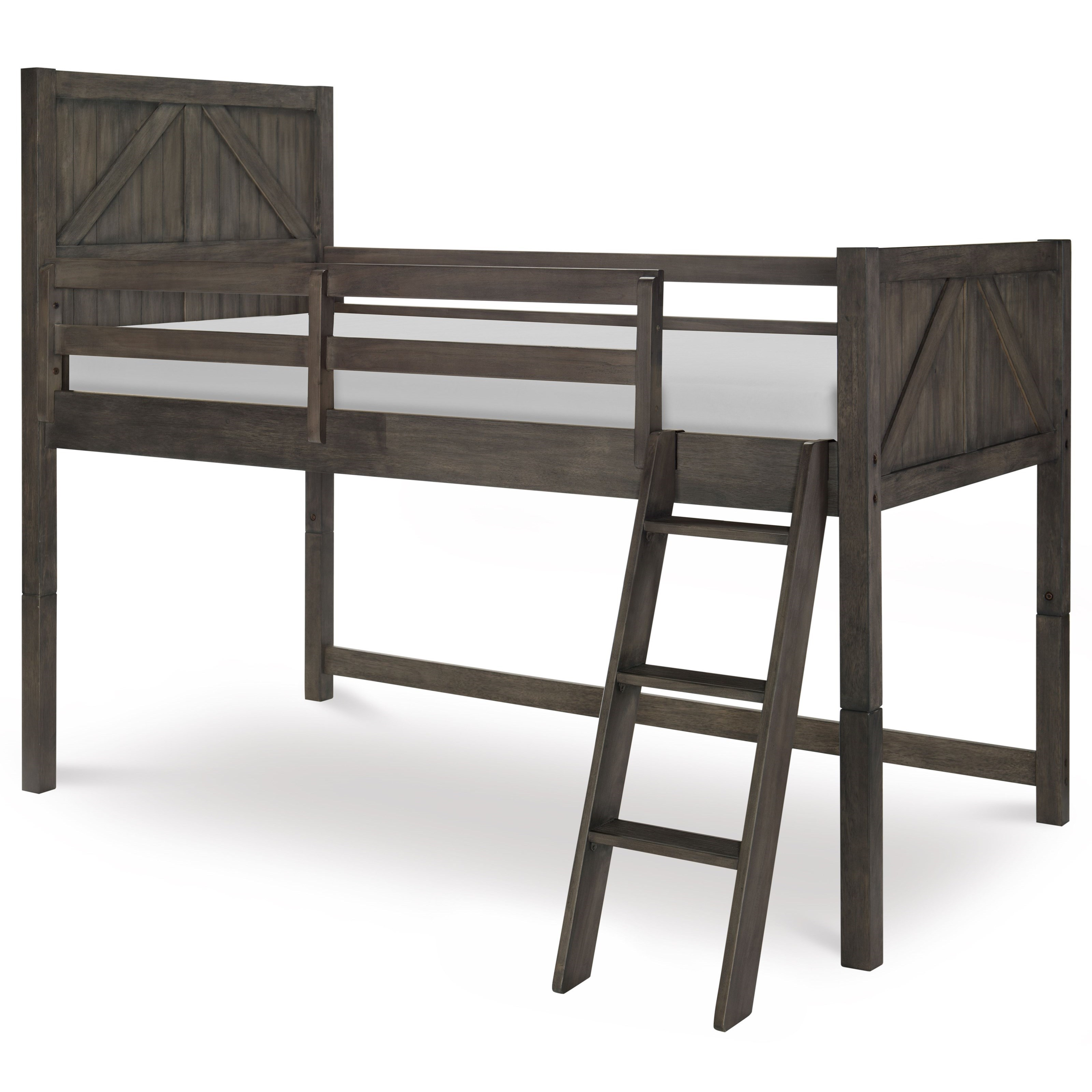 Bunkhouse Twin Mid Loft Bed by Legacy Classic Kids at Darvin Furniture