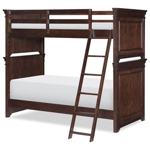 Transitional Twin over Twin Bunk with Ladder
