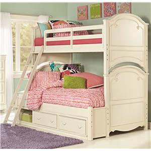 Legacy Classic Kids Charlotte Twin Over Full Bunk Bed with Storage