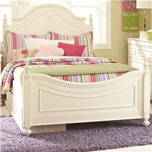 Legacy Classic Kids Charlotte Twin Low Poster Bed with Storage Unit