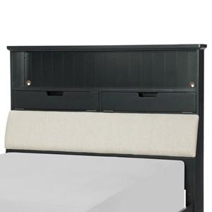 Full Upholstered Bookcase Headboard